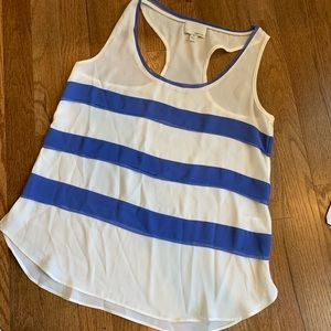 XS Greylin Blue White Stripe Racerback